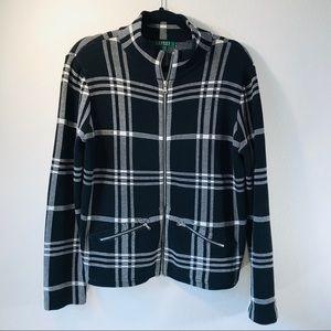 Lauren Ralph Lauren / Black Plaid Jacket